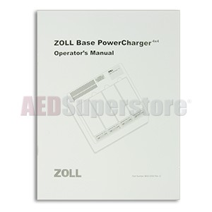 ZOLL Base PowerCharger 4x4, Operator's Manual