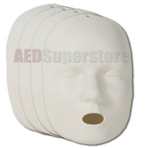 Prestan Replacement Face Skins for the Professional Adult Manikin (4-Pack)