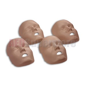 Replacement Face Skins for the Prestan Professional Child Dark Skin Manikin (4-pack)