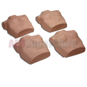 Replacement Torso Skins for the Prestan Professional Child Dark Skin Manikin (4-Pack)