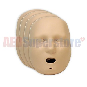 Prestan 4-Pack Faces for the Jaw Thrust Adult Medium Skin Manikin