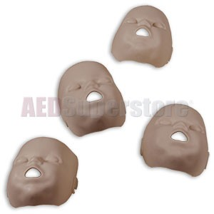 Prestan Replacement Face Skins for the Professional Infant Dark Skin Manikin (4-Pack)