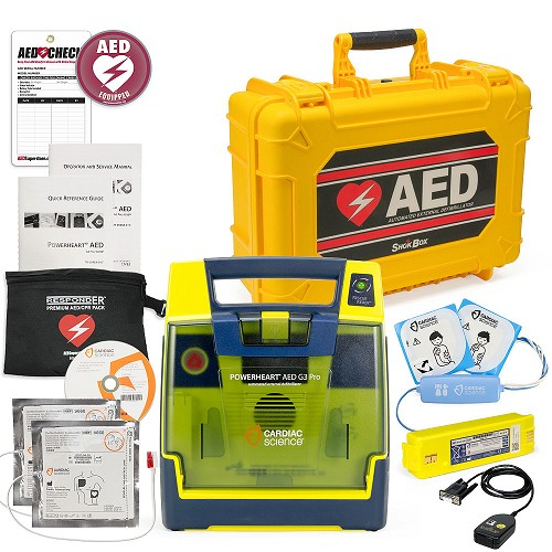 Cardiac Science Powerheart AED G3 Pro Mobile Responder Value Package