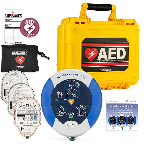 HeartSine samaritan PAD 450P AED Mobile Responder Value Package