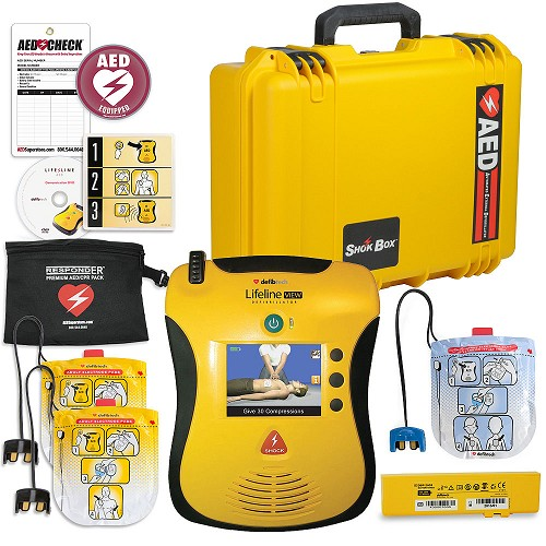 Defibtech Lifeline VIEW/ECG AED Mobile Responder Value Package