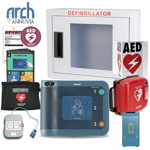 Philips HeartStart FRx AED Complete Value Package (Includes RespondER® Premium Items)