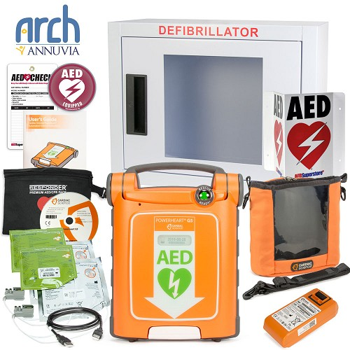 Cardiac Science Powerheart AED G5 Plus Complete Value Package
