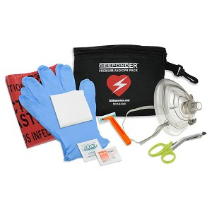 RespondER® Premium CPR/AED Pack with RespondER® Mask in nylon pouch
