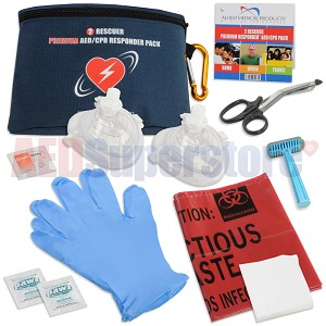 2 Rescuer RespondER® PREMIUM CPR/AED Pack with Masks