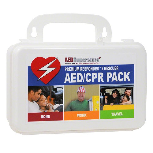 2 Rescuer RespondER® PREMIUM CPR/AED Pack with Masks in Hard Case