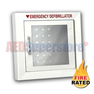 RespondER® Premium Fire-Rated Compact Size AED Wall Cabinet