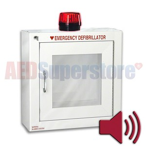 Standard Size AED Cabinet with Audible Alarm and Strobe Light