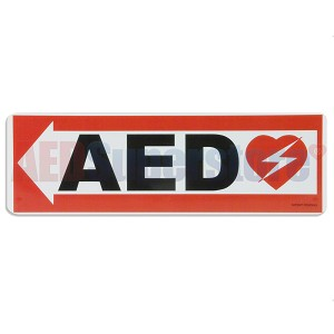 AED Left Arrow Wall Sign