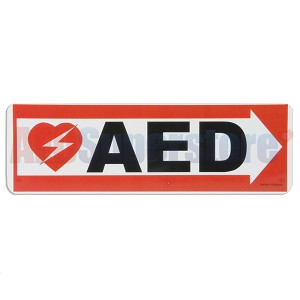 AED Right Arrow Wall Sign