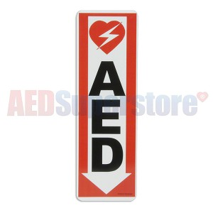 AED Down Arrow Wall Sign
