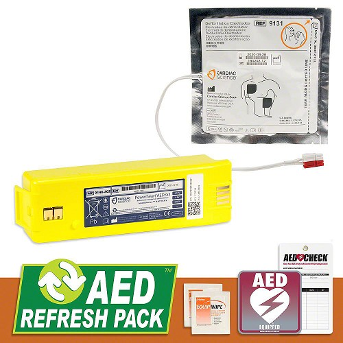 Cardiac Science Powerheart G3 AED Refresh Pack