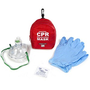 WNL Adult/Child CPR Mask in Soft Case w/Gloves & Wipe by WNL Products