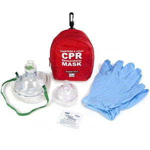 WNL Adult/Child & Infant CPR Masks in Soft Case w/Gloves & Wipe by WNL Products