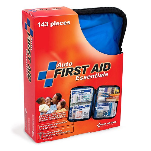 FAO Travel 143 Piece First Aid Kit, w/Clear-Pocket Soft Case