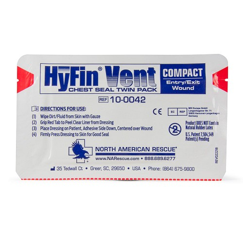 Hyfin Compact Chest Seal Twin Pack by North American Rescue