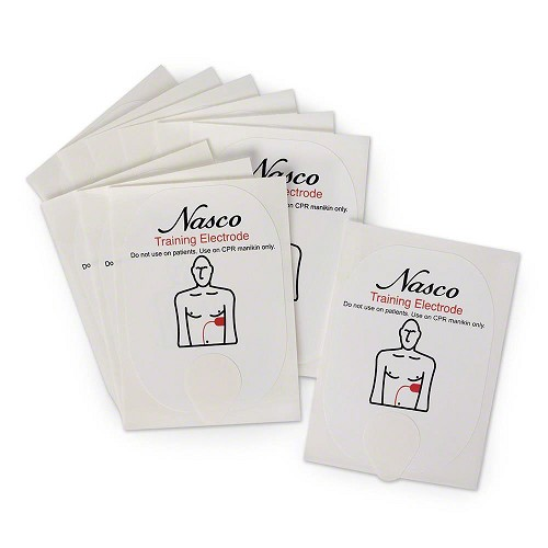 Life/form® Replacement Adult Training Electrodes for the Universal AED Trainer by Nasco - 5 Pairs