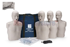 Prestan Professional Adult Jaw Thrust Light Skin Manikin (4-Pack) without CPR Monitor