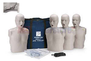 Prestan Professional Adult Jaw Thrust Light Skin Manikin (4-Pack) with CPR Monitor