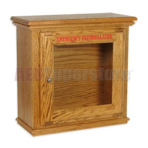 Hand-Crafted Wood Standard Size Basic AED Wall Cabinet