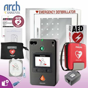 Philips HeartStart FR3 AED Complete Value Package