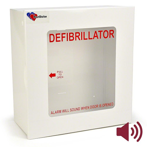 HeartStation Budget Compact Surface Mount Cabinet with Audible Alarm